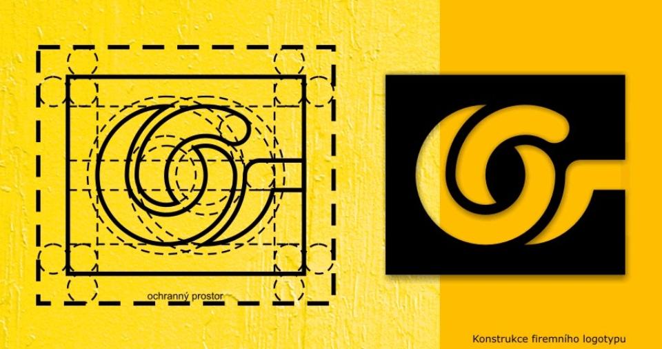 Konstrukce firemního logotypu